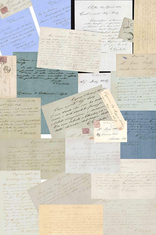 [ 36 lettere a mary e charles seely, proprietari di brook house sull'isola di wight, ospiti del generale durante la visita in inghilterra nell'aprile 1864 ]