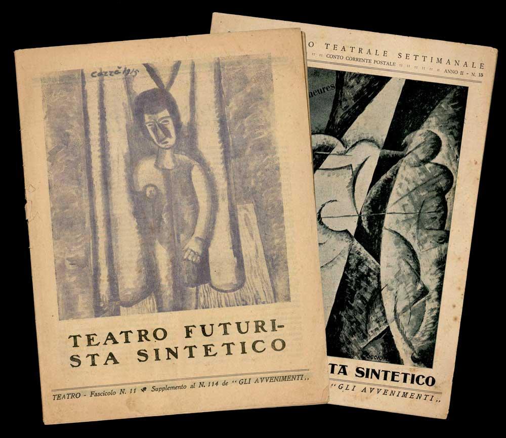 """teatro futurista sintetico ... supplemento al n. 114 de """"gli avvenimenti"""" [- ... unito al n. 15 de """"gli avvenimenti""""]"""