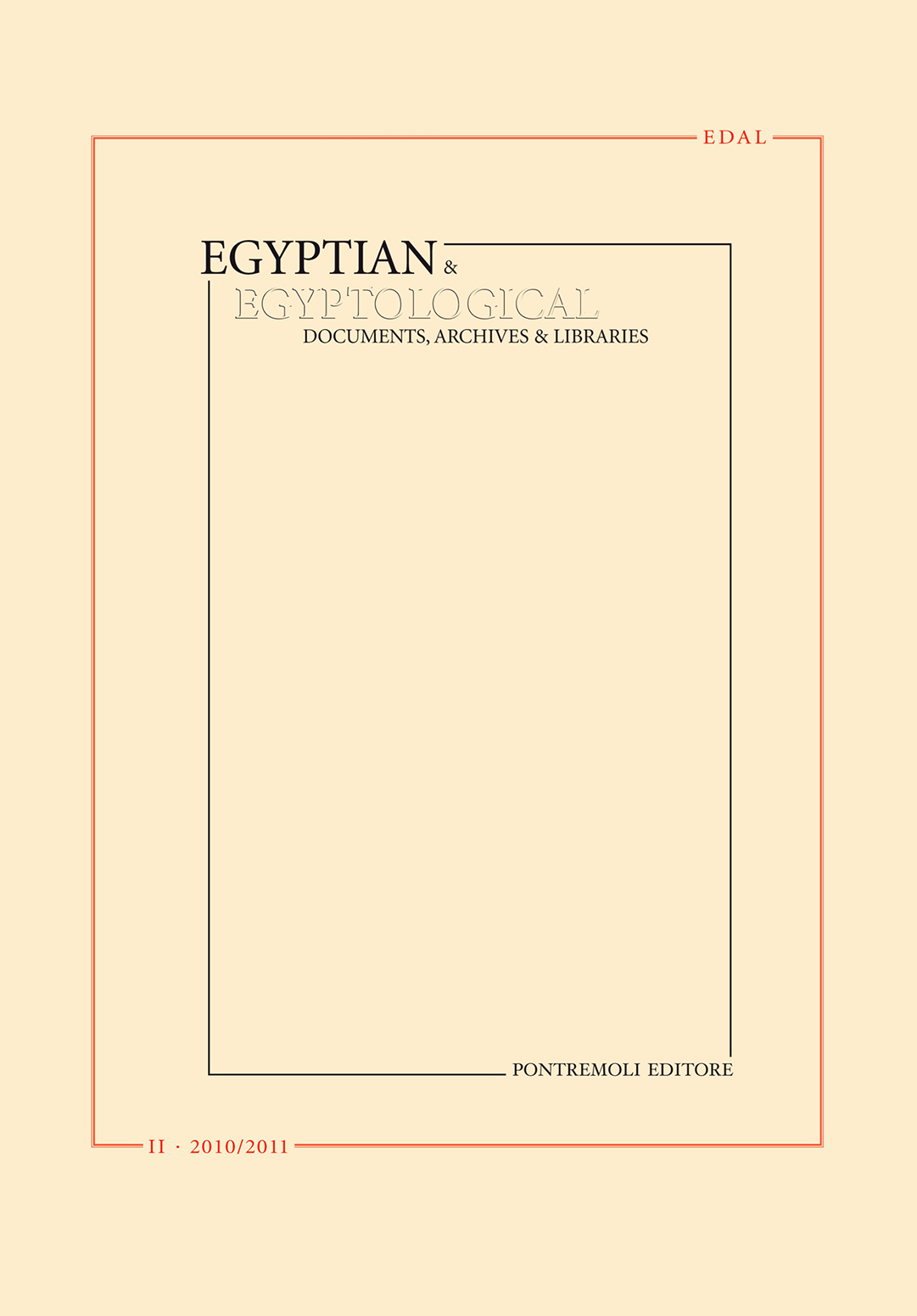 edal: egyptian & egyptological documents archives libraries - n. 2