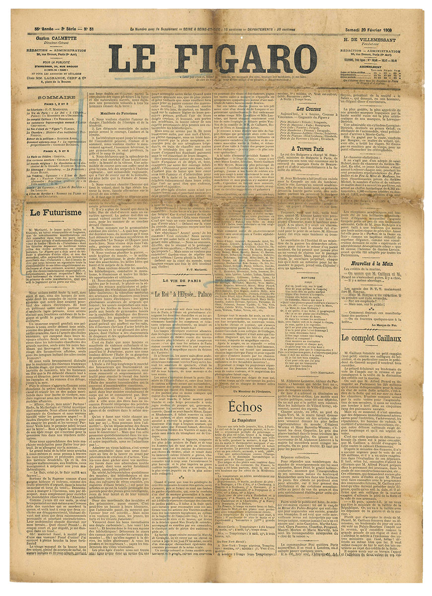 Le Figaro - Manifeste du Futurisme