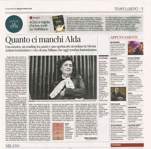 Alda Merini - Corriere della Sera