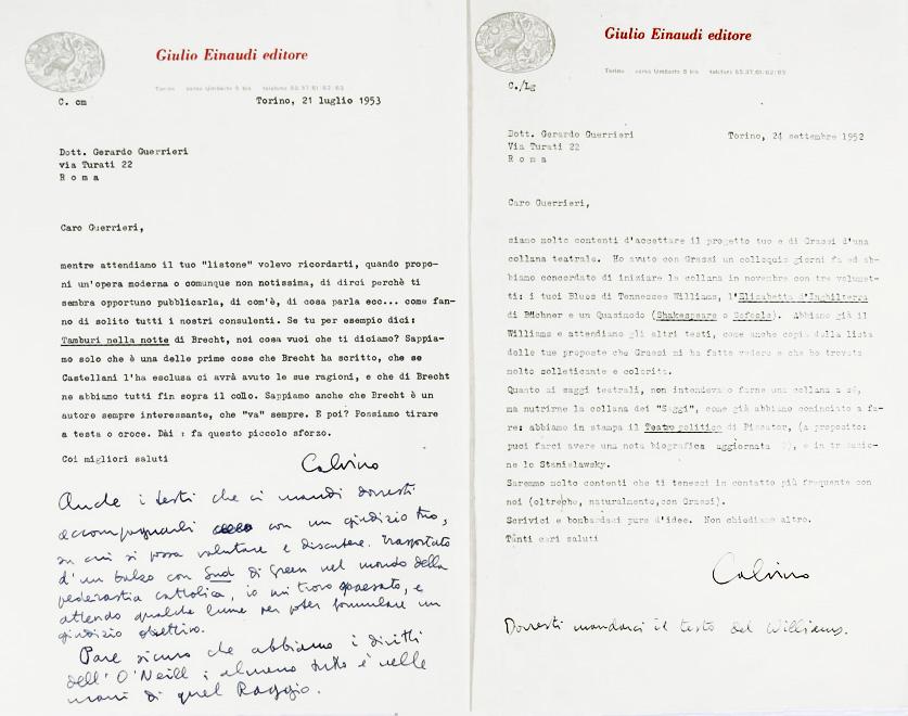 Italo Calvino e Gerardo Guerrieri