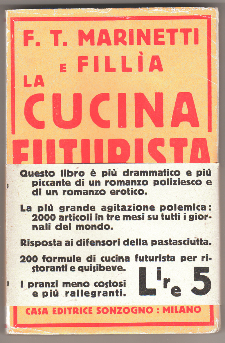 Marinetti -Cucina futurista - fascetta - Pontremoli