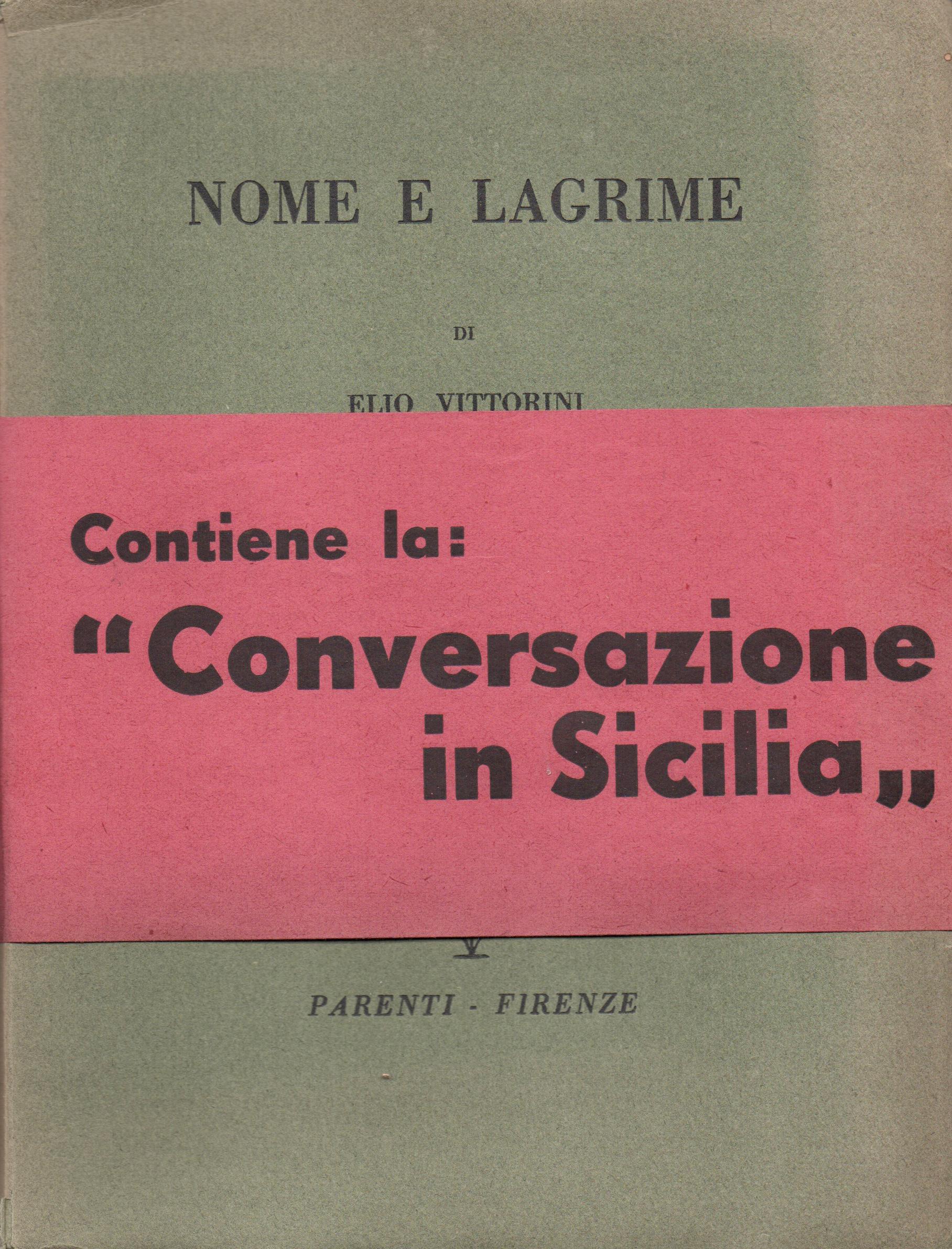 Vittorini - Conversazione in Sicilia - Pontremoli