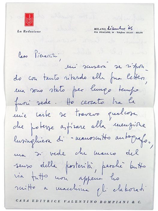 Umberto Eco - Lettera 1