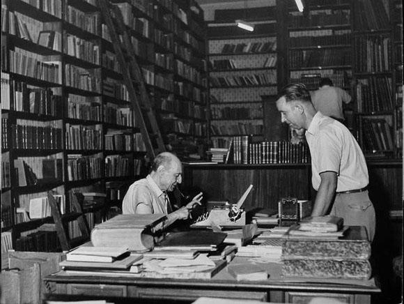 Saba nella sua libreria